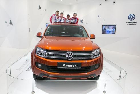 Российские биатлонисты-чемпионы в гостях у марки Volkswagen