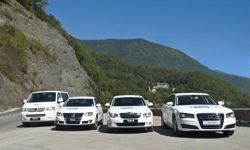 «ФОЛЬКСВАГЕН Груп Рус» предоставил автомобили для олимпиады Сочи 2014