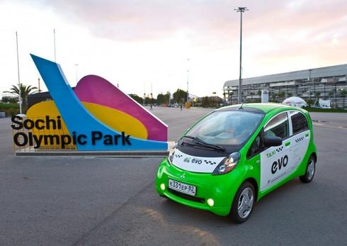 Электромобиль Mitsubishi I-MiEV стал первым эко-такси в Сочи
