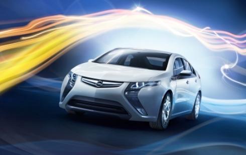 Мировая премьера Opel Ampera.
