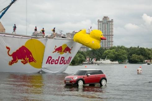 MINI. Not Normal на Red Bull Flugtag 2013 в Москве.