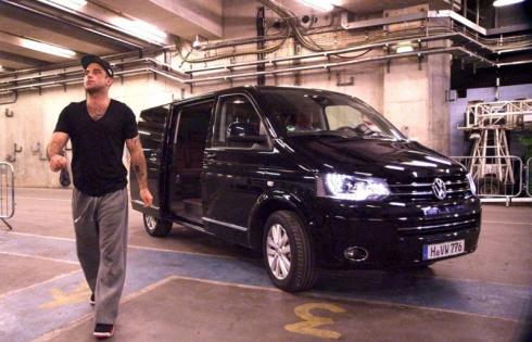 Робби Уильямс и Volkswagen Multivan – более 10 лет вместе