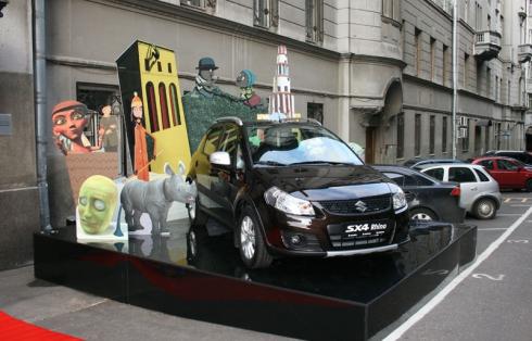 Носорог Suzuki открыл фестиваль Linoleum