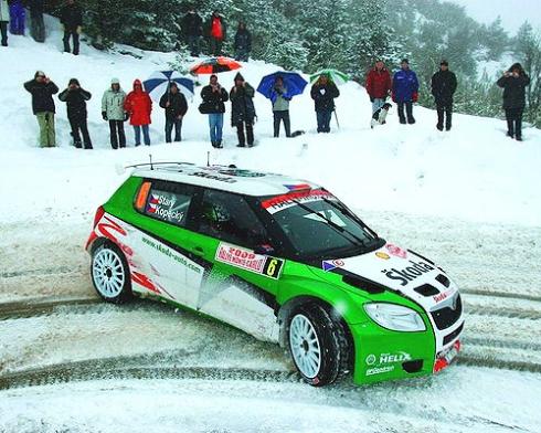 Дебют команды Skoda MotorSport на ралли Монте-Карло.