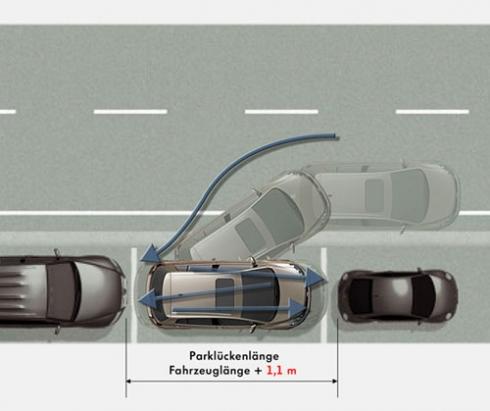 Марка Volkswagen представила новое поколение системы парковки Park Assist.