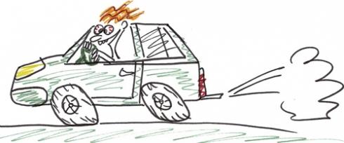 «Психов» за руль не пущать!