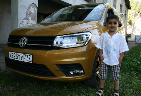Просто «золотой» автомобиль: благотворительный рейс на Volkswagen Caddy Family