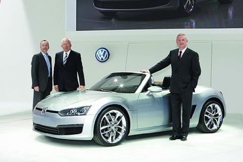 Детройт 2009 - мировая премьера концепта Volkswagen BlueSport