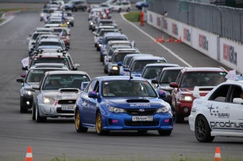 В России установили мировой рекорд на самый большой парад автомобилей Subaru