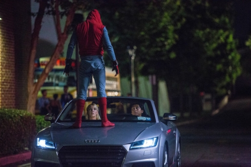 Audi A8 на съемках блокбастера «Человек-паук: Возвращение домой»